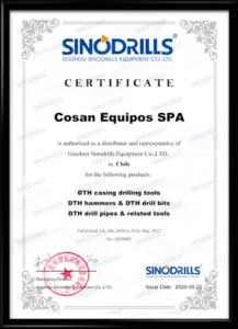 sinodrills certificado